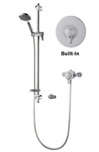 Product description Features all the installation benefits of the Eden concentric mixer range, including built-in and exposed fitting options, as well as the additional functionality of an extended 940mm riser rail and extended 2m shower hose for additional reach. Includes full TMV2 and WRAS approval and optional 12 l/min flow limiter.